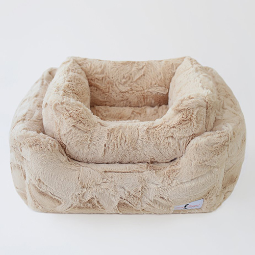 Hello Doggie Luxe Dog Bed, Sand, Large