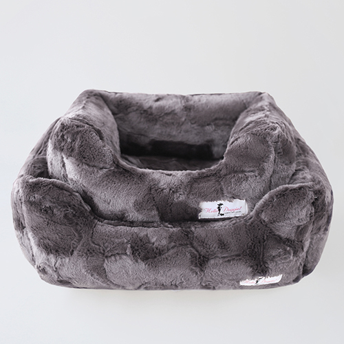 Hello Doggie Luxe Dog Bed, Pewter, Large
