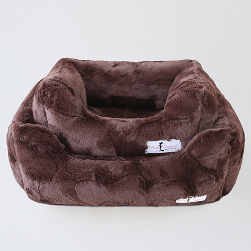 Hello Doggie Luxe Dog Bed, Chocolate, Large