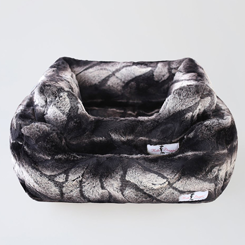 Deluxe Dog Bed, Chinchilla, Large