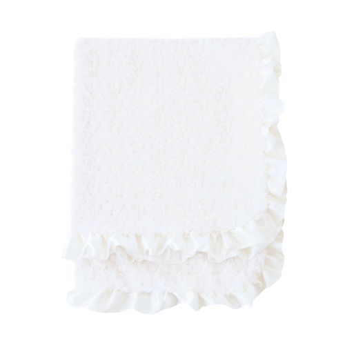 Hello Doggie Baby Ruffle Dog Blanket, Vinatage, Large