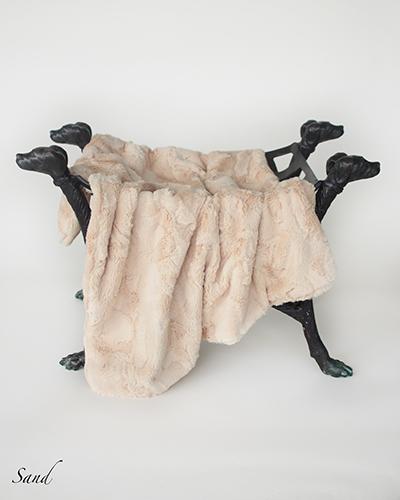 Hello Doggie Luxe Dog Blanket, Sand, Throw