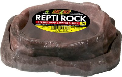 Zoo Med Repti Rock Reptile Rock Food and Water Dishes, Medium