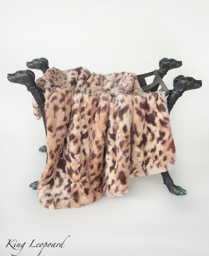 Hello Doggie Luxe Dog Blanket, King Leopard, Large