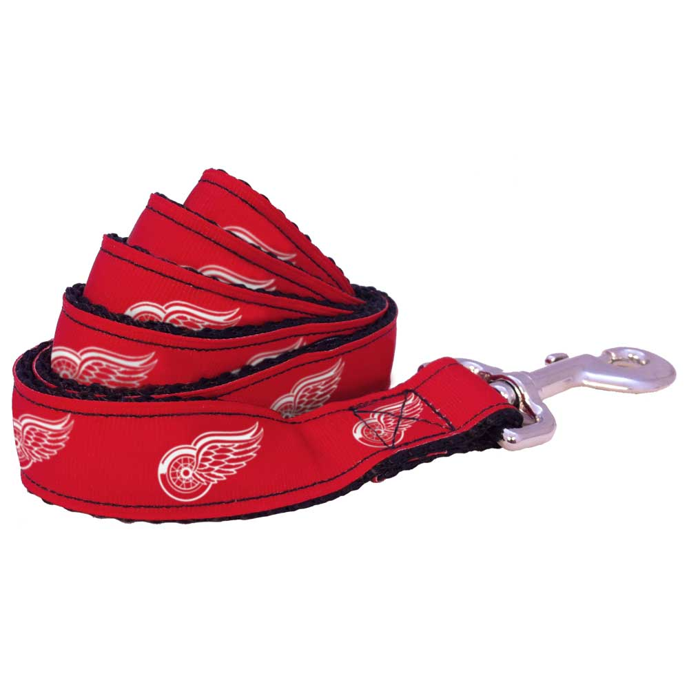 All Star Dogs Detroit Red Wings Ribbon Dog Leash