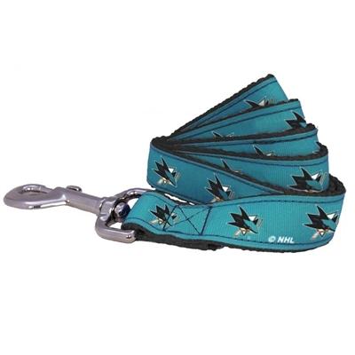All Star Dogs San Jose Sharks Ribbon Dog Leash