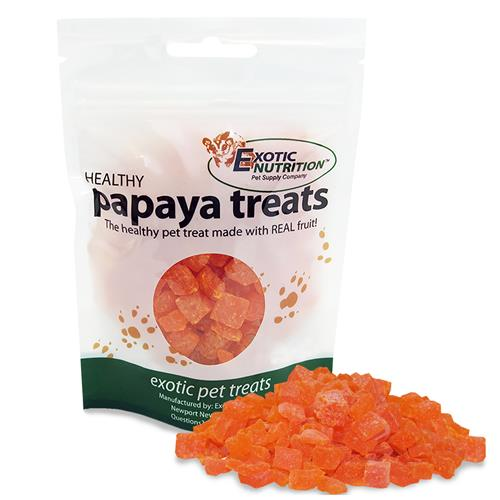Exotic Nutrition Healthy Papaya Small Animal Treats, 3-oz