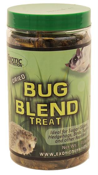 Exotic Nutrition Dried Bug Blend Small Animal Treats, 1.71-oz