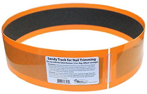 Exotic Nutrition Silent Runner Sandy Trimmer Track, Orange, 12-in