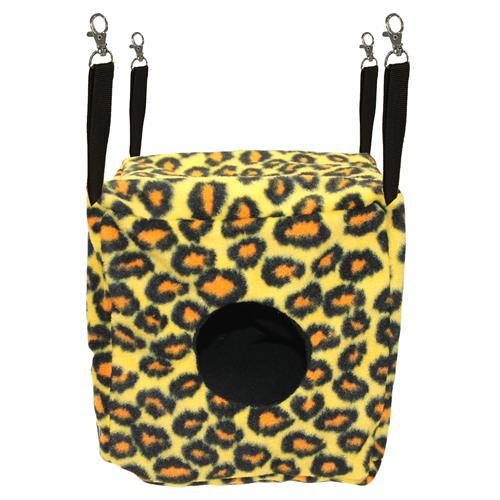 Exotic Nutrition Cozy Cube Small Animal Nest Pouch, Leopard