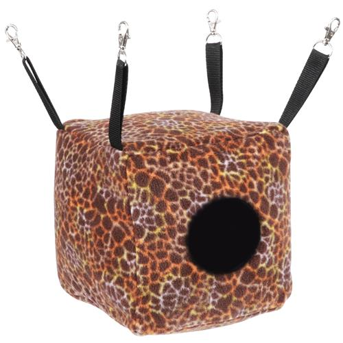 Exotic Nutrition Cozy Cube Small Animal Nest Pouch, Giraffe