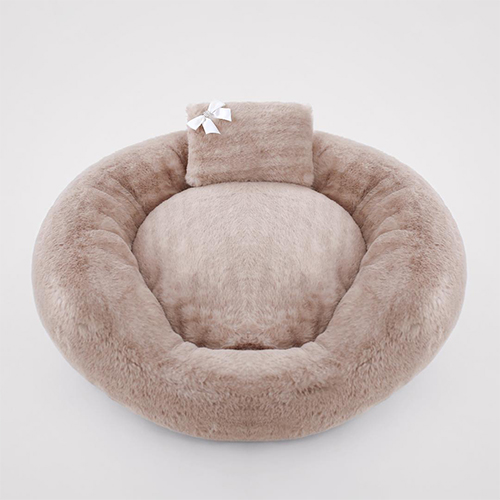 Hello Doggie Teddy Bear Dog Bed, Amour