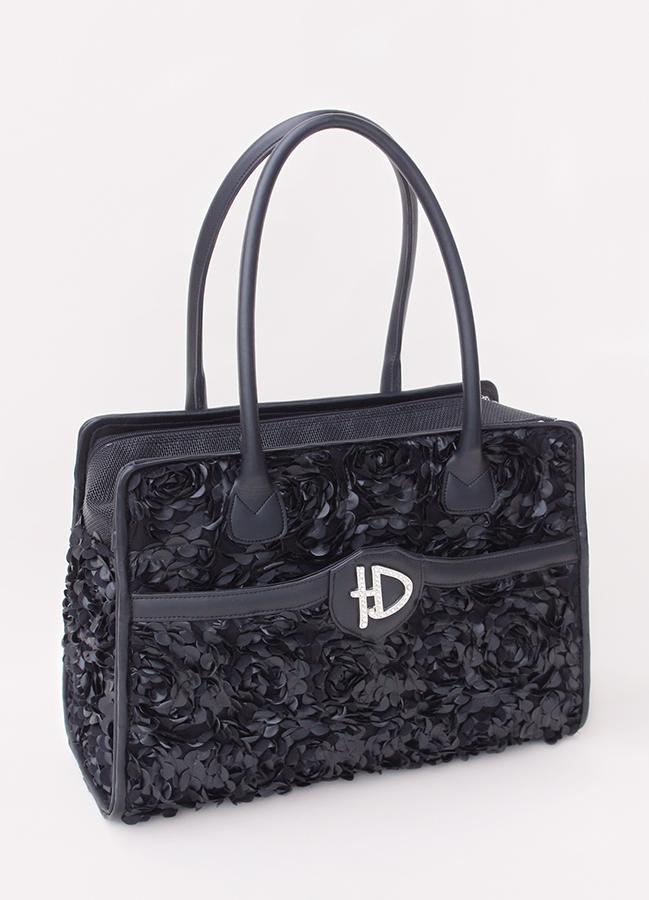 Hello Doggie Majestic Luxury Carrier, Black, Small