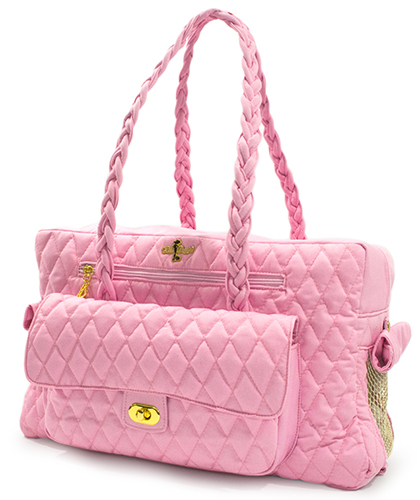 Hello Doggie Porsha Carrier, Baby Pink, Small