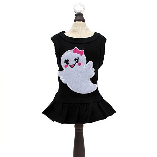 Hello Doggie Dress, Ms. Boo Black, Small