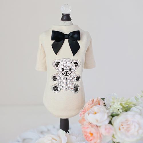 Hello Doggie T-Shirt, Teddy Bow, XX-Small
