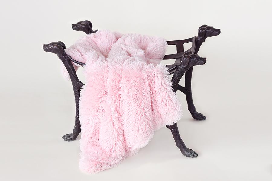 Hello Doggie Luxury Shag Pet Blankets, Pink, Small