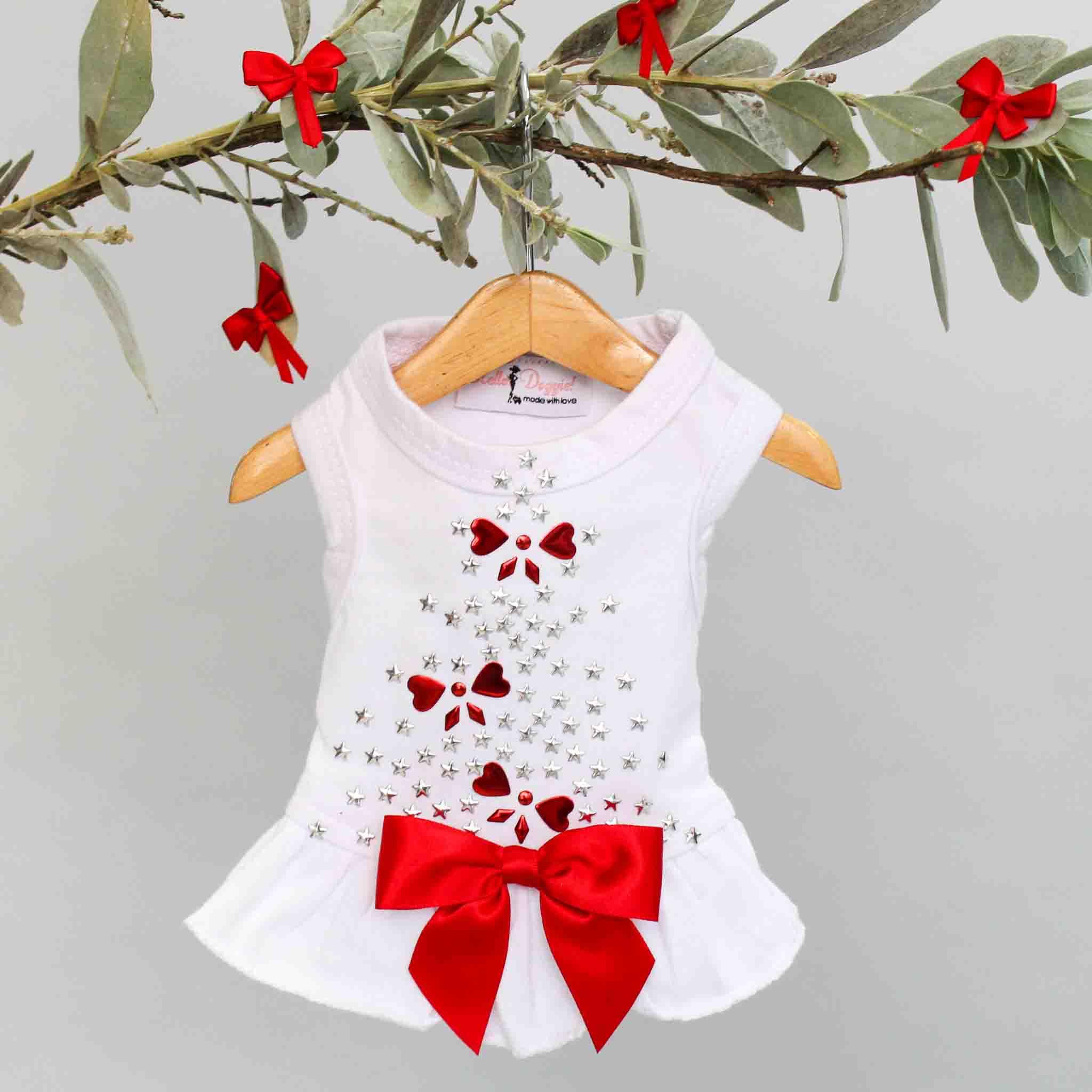 Hello Doggie Dress, Holiday Sparkle, XX-Small