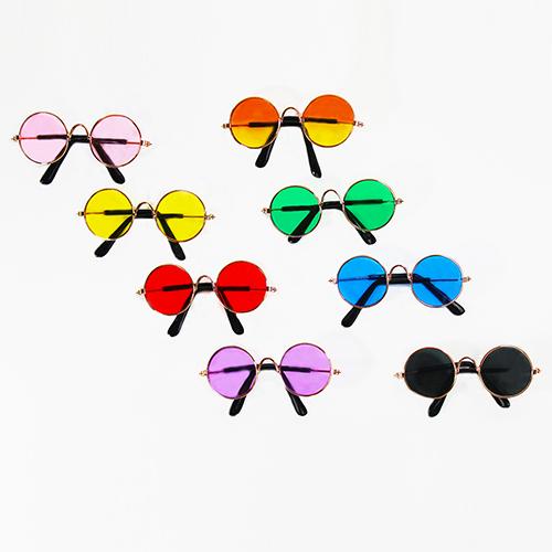 Hello Doggie Dog Sunglasses with Clear Strap, Orange