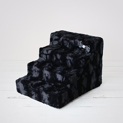 Hello Doggie Luxury Pet Stairs 4 Step, Black Diamond