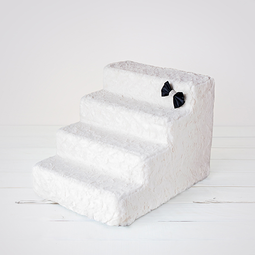 Hello Doggie Luxury Pet Stairs 4 Step, Classic Ivory