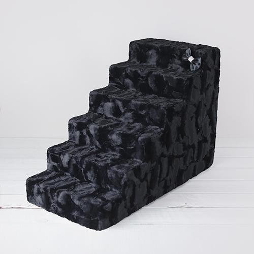 Hello Doggie Luxury Pet Stairs 6 Step, Black Diamond