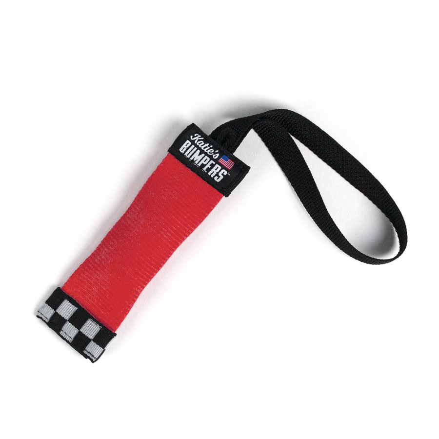 Katie's Bumpers Sqwuggie Firehouse Dog Toy, Red, 7-in