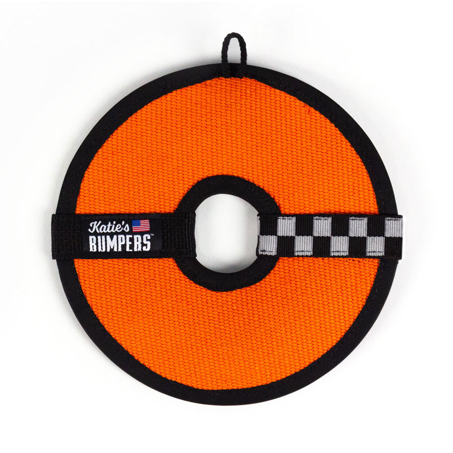 Katie's Bumpers Frequent Flyer Circle Firehouse Dog Toy, Orange
