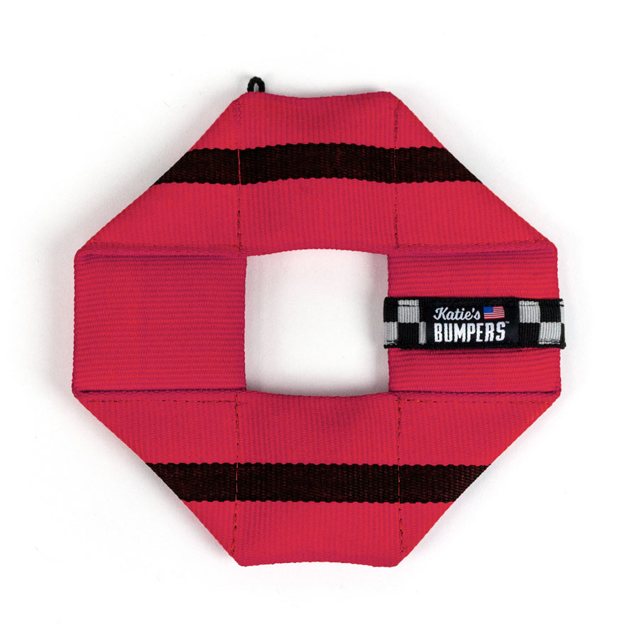 Katie's Bumpers Frequent Flyer Square Firehouse Dog Toy, Red