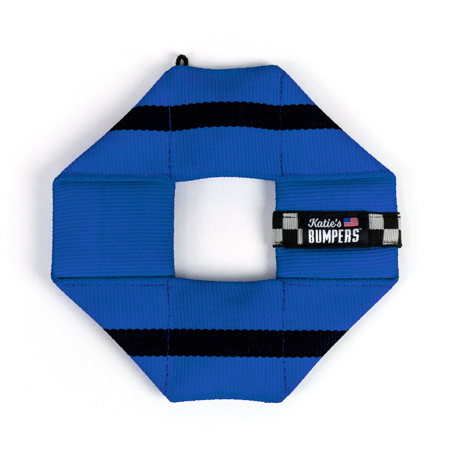 Katie's Bumpers Frequent Flyer Square Firehouse Dog Toy, Blue