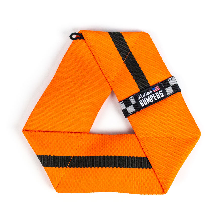 Katie's Bumpers Frequent Flyer Triangle Firehouse Dog Toy, Orange