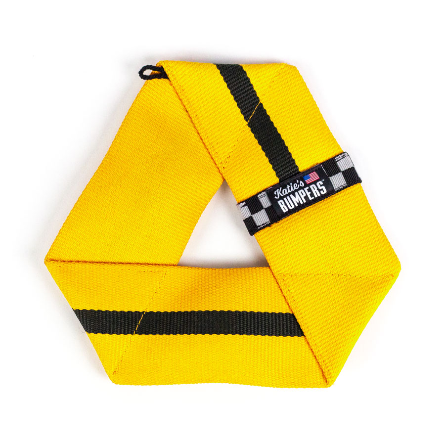 Katie's Bumpers Frequent Flyer Triangle Firehouse Dog Toy, Yellow