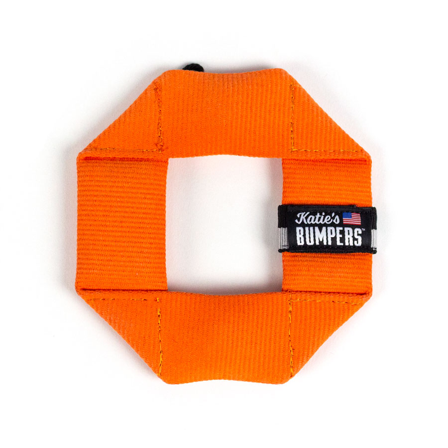 Katie's Bumpers Mini Frequent Flyer Square Firehouse Dog Toy, Orange