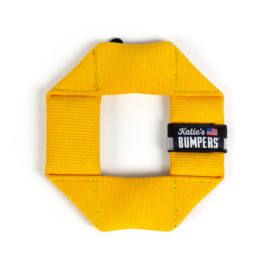 Katie's Bumpers Mini Frequent Flyer Square Firehouse Dog Toy, Yellow