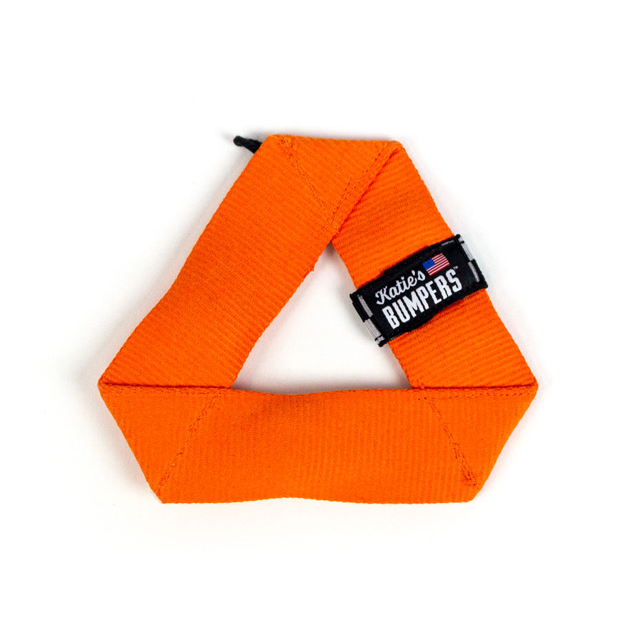 Katie's Bumpers Mini Frequent Flyer Triangle Firehouse Dog Toy, Orange