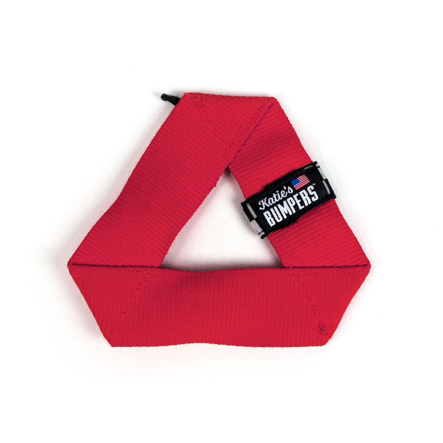 Katie's Bumpers Mini Frequent Flyer Triangle Firehouse Dog Toy, Red