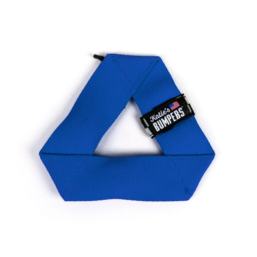 Katie's Bumpers Mini Frequent Flyer Triangle Firehouse Dog Toy, Blue