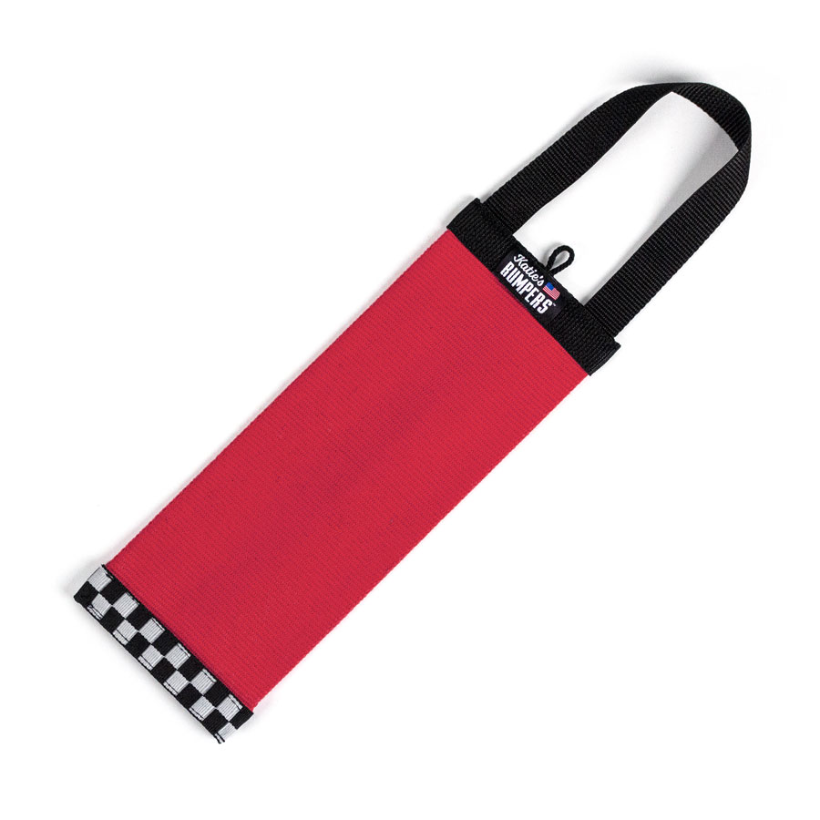 Katie's Bumpers Bottle Tracker Firehouse Dog Toy, Red