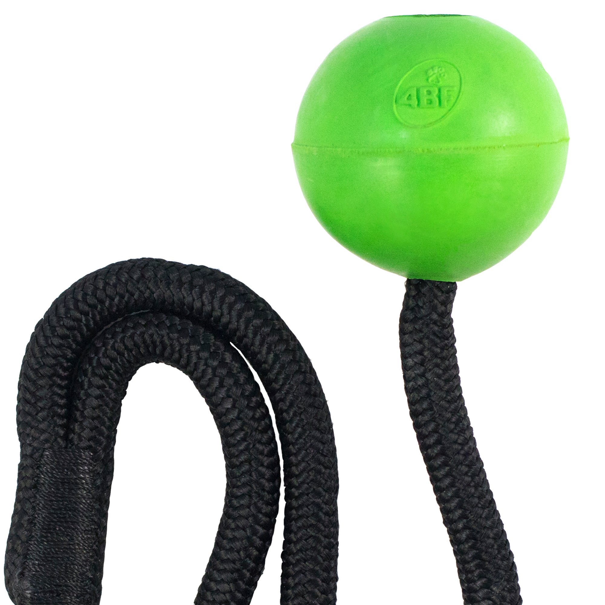 4BF Natural Rubber Crazy Bounce Rope Dog Toy, Green, Large