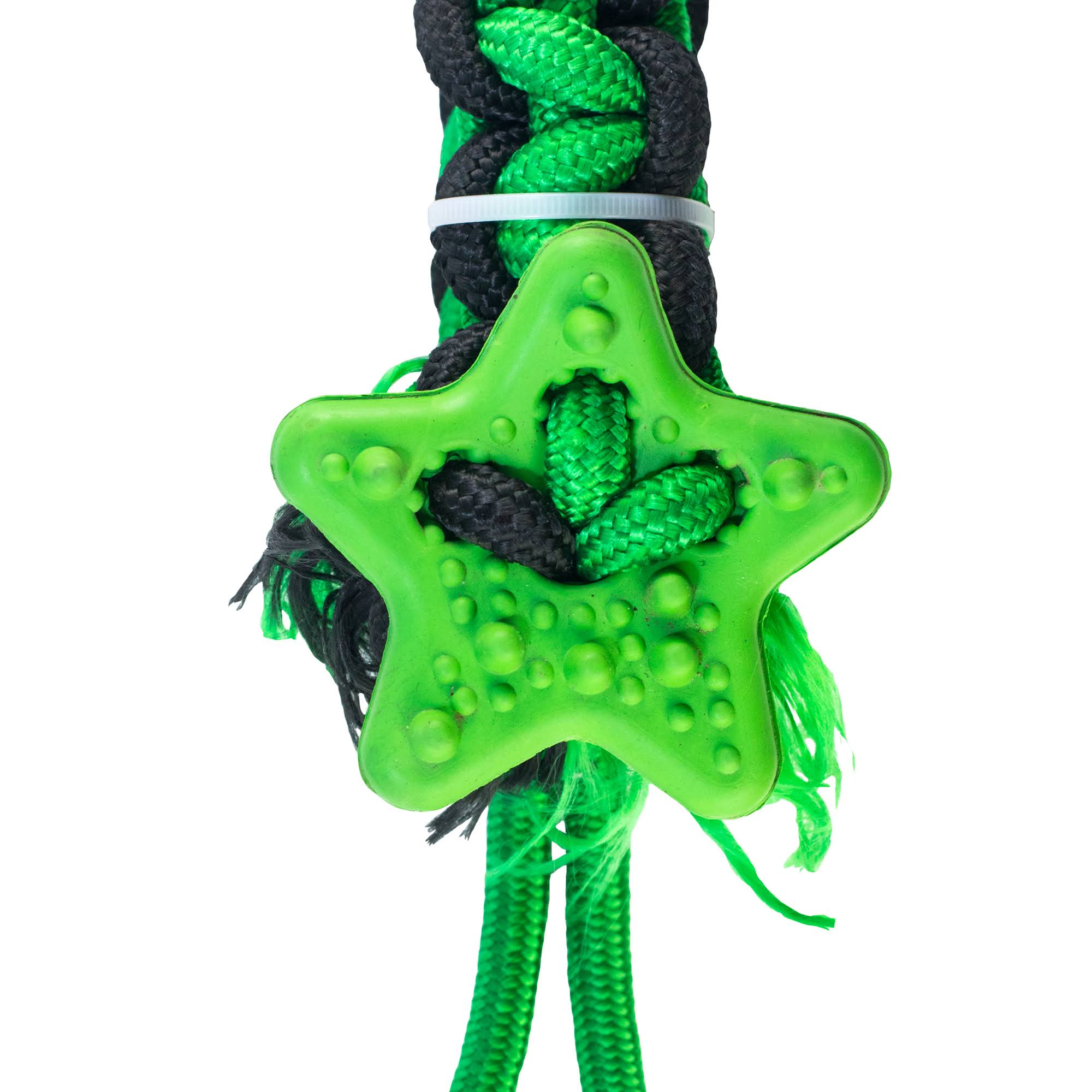 4BF Natural Rubber Rope Tugging Star Dog Toy, Medium