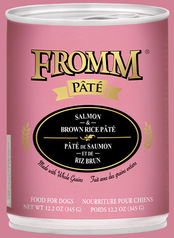 Fromm Pate Salmon & Brown Rice Canned Dog Food, 12.2-oz