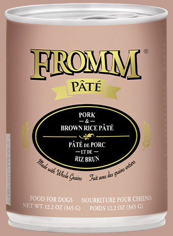 Fromm Pate Pork & Brown Rice Canned Dog Food, 12.2-oz