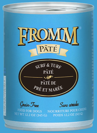 Fromm Pate Surf & Turf Canned Dog Food, 12.2-oz