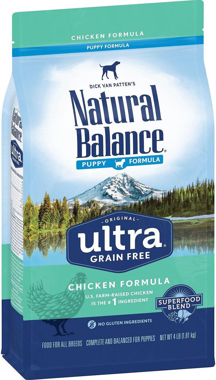 Natural Balance Original Ultra Puppy Formula Chicken Formula Grain-Free Dry Dog Food, 4-lb