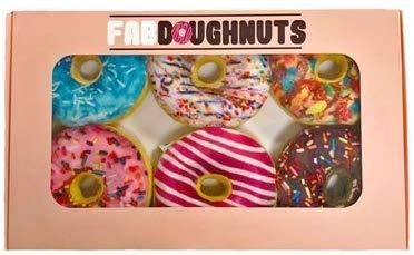Fab Dog Box of Doughnuts Dog Toy, 6-pack