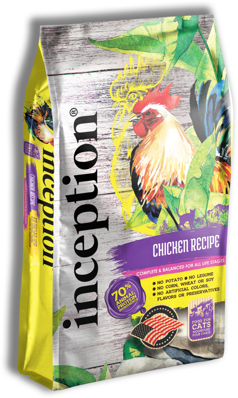 Inception Chicken Recipe Dry Cat Food, 4-lb