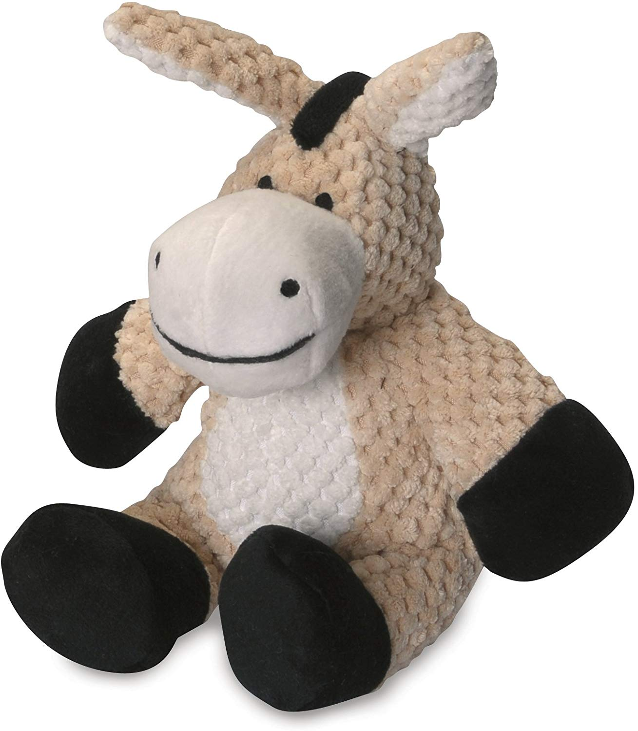 GoDog Checkers Donkey with Chew Guard Dog Toy, Small