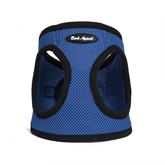 Bark Appeal EZ Wrap Mesh Step In Dog Harness, Blue, XX-Large