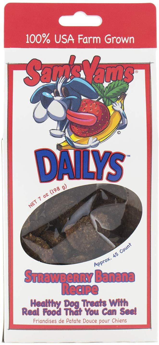 Sam's Yams Daily's Strawberry Banana Recipe Dog Treats, 7-oz