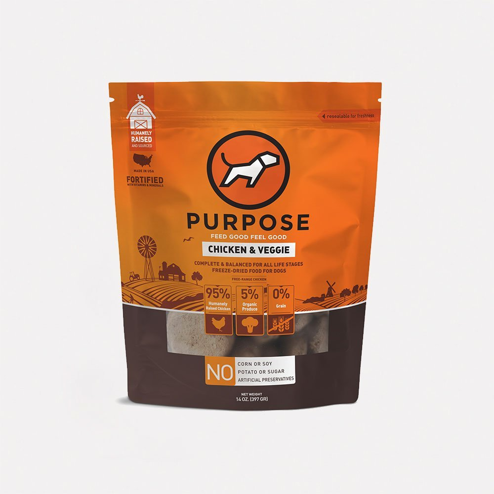 Purpose Chicken & Veggie Freeze-Dried Dog Food, 14-oz